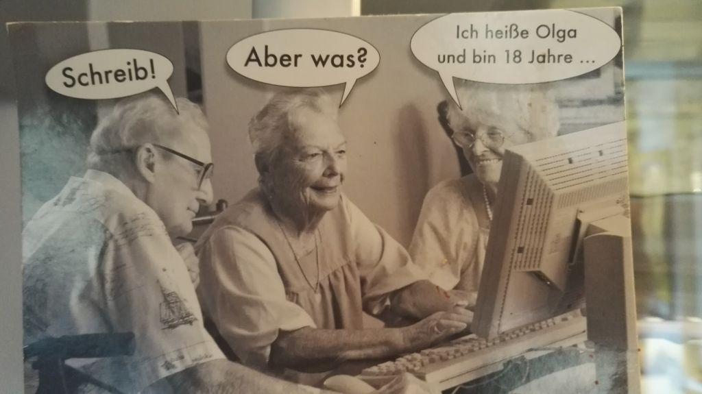 """""""Schreib!"""" """"Aber was?"""" """"Ichheiße Olga und bin 18 Jahre ..."""""""